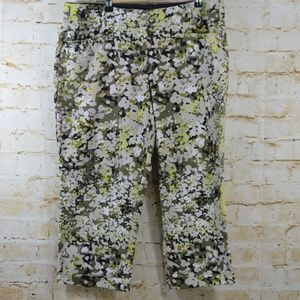 Lane Bryant Floral Capri Pants